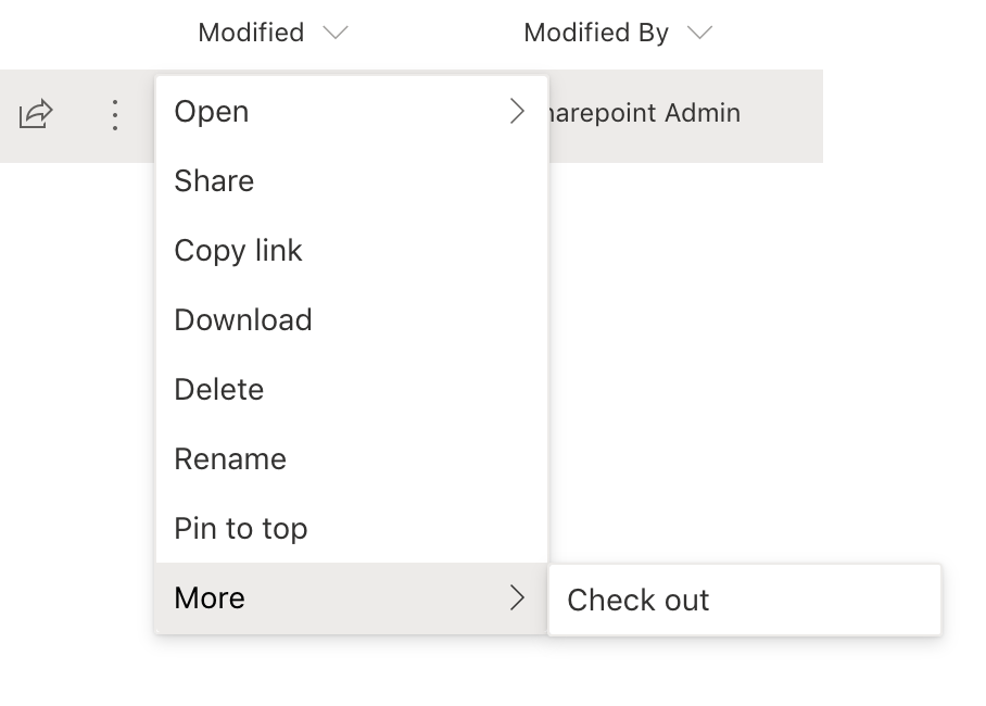 Sharepoint Check Out Feature